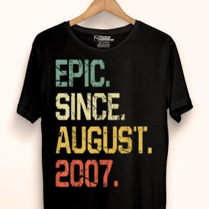 Epic Since August 2007 12 Years Old shirt