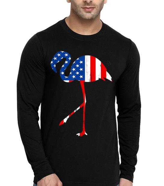 Flamingo American Flag Vintage Style 4th Of July shirt