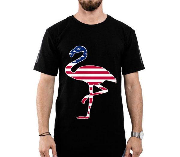 Flamingo Red White Blue Flag shirt