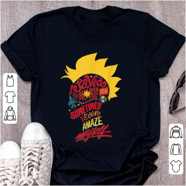 Hot Captain Marvel Mohawk I Saved The World Today shirt