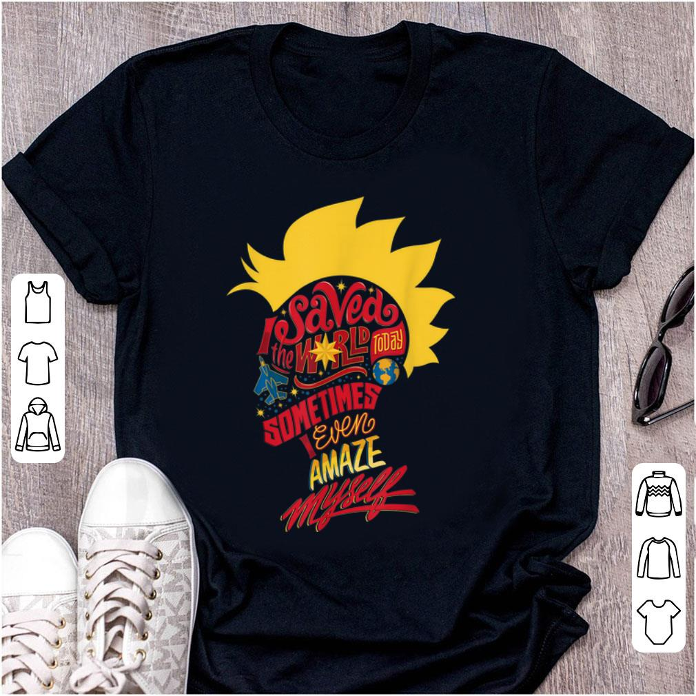 Hot Captain Marvel Mohawk I Saved The World Today shirt 1 - Hot Captain Marvel Mohawk I Saved The World Today shirt