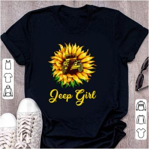Hot Sunflower Jeep Girl shirt
