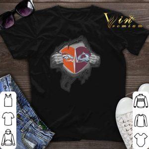 Inside my heart Denver Broncos Colorado Avalanche shirt