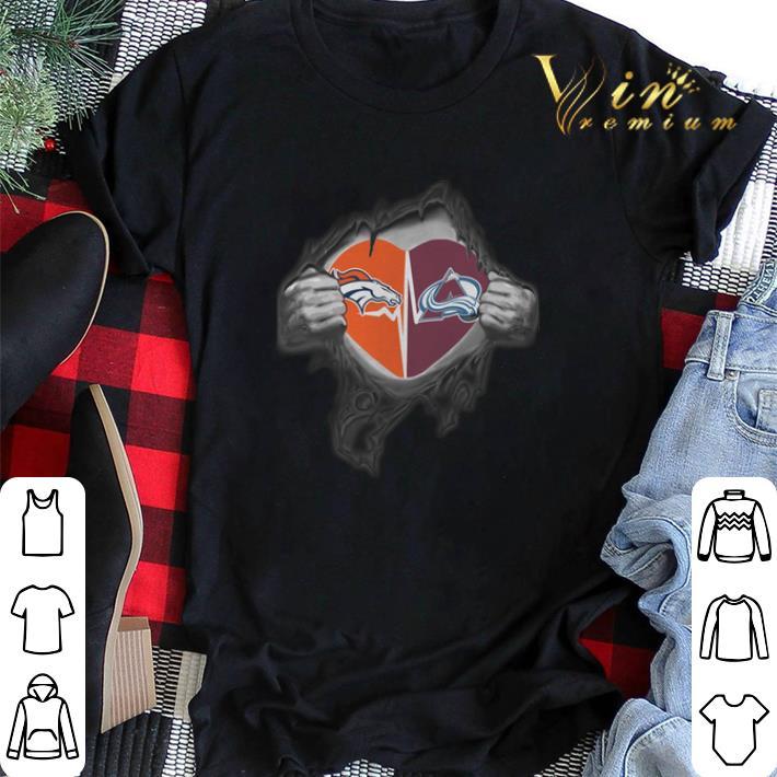 pick up d612c fb5ae Inside my heart Denver Broncos Colorado Avalanche shirt, hoodie, sweater,  longsleeve t-shirt