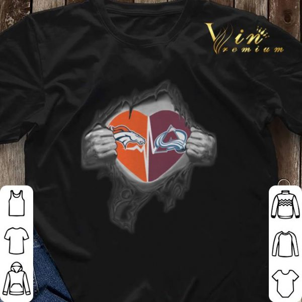 Inside my heart Denver Broncos Colorado Avalanche shirt