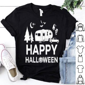 Nice Happy Halloween Camping Fifth Wheel Camper Rv Vacation shirt