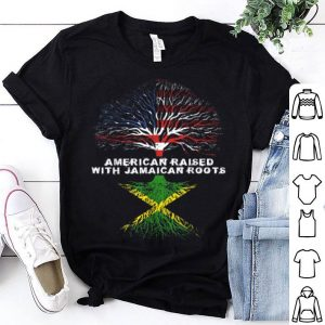 Official American Raised With Jamaican Roots Jamaica shirt