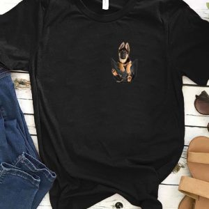 Official German Shepherd In Pocket Dog Lover shirt