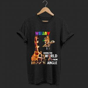 Official Giraffe Autism Seeing The World From Different Angle Cancer Awareness shirt