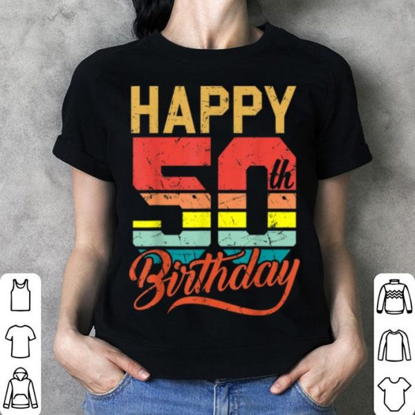 Official Happy 50th Birthday Gift 50 Years Old Vintage Born In 1969 shirt