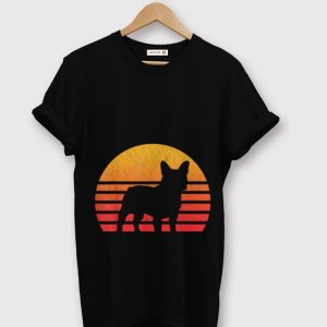 Official Vintage Retro Sunset French Bulldog Silhouette shirt
