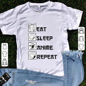 Original Eat Sleep Anime Repeat shirt