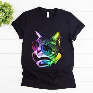 Original Rainbow Music Dj Cat shirt