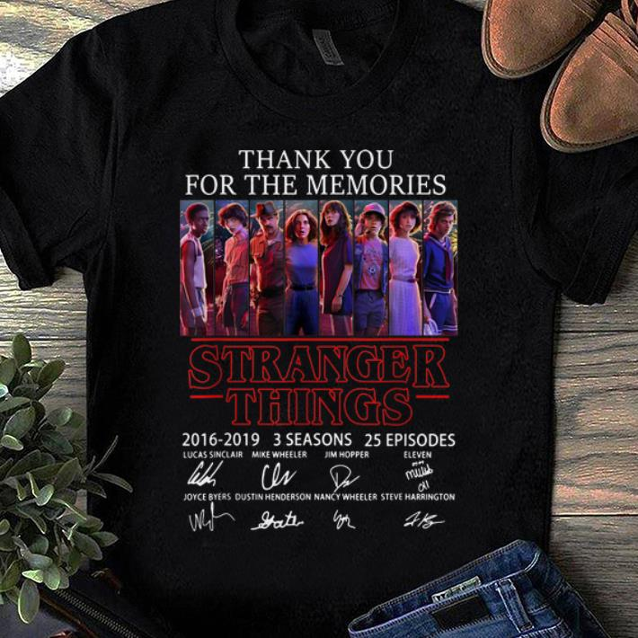Original Thank You For The Memories Stranger Things 3 Signature Character shirt 1 - Original Thank You For The Memories Stranger Things 3 Signature Character shirt
