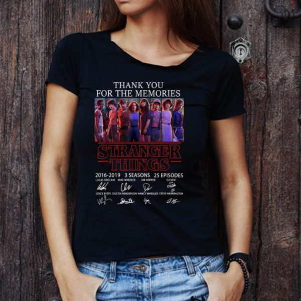 Original Thank You For The Memories Stranger Things 3 Signature Character shirt
