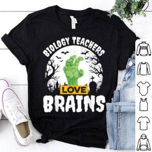 Premium Halloween Teacher Gift Biology Teachers Love Brains shirt