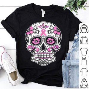 Premium Halloween The Breast Cancer Awareness-sugar Skull shirt