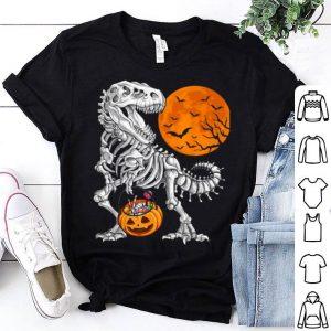 Premium Halloweens For Boys Kids Dinosaur Skeleton T Rex Scary shirt