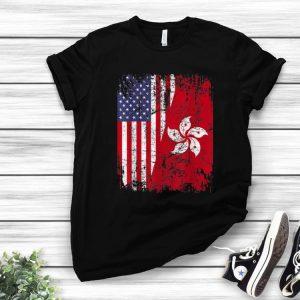 Premium Hong Kong Half American Flag shirt