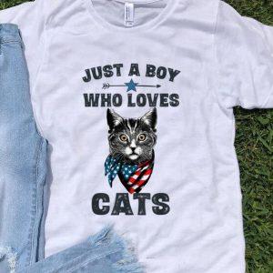 Premium Just A Boy Who Love Cat American shirt