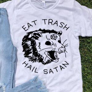 Pretty Possum Eat Trash Hail Satan shirt