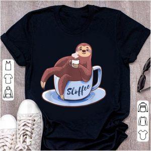 Pretty Sloffee Sloth Lying On A Cup Of Coffee Sloffee Meme shirt