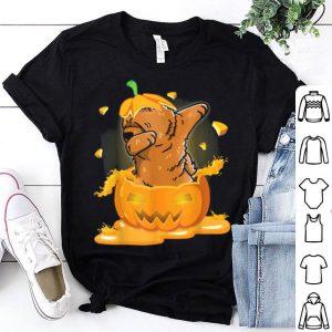 Top Chow Chow Dabbing Hatching Pumpkin Happy Halloween Day shirt
