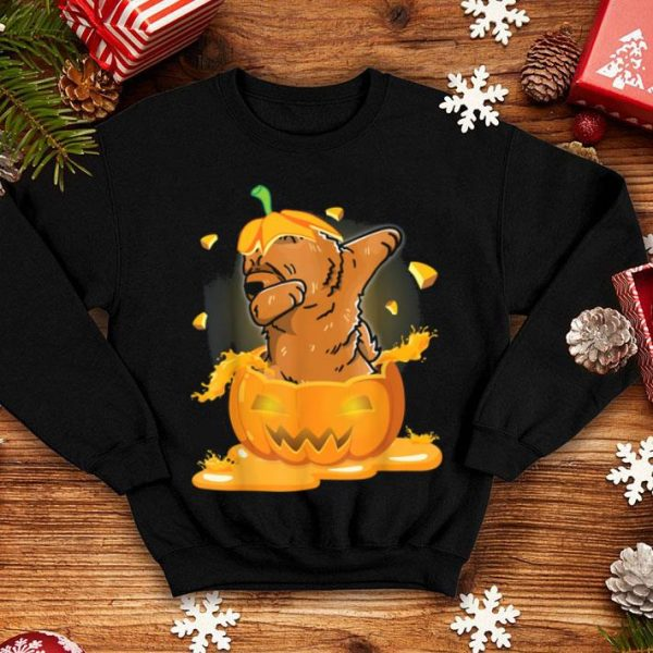 Top Chow Chow Dabbing Hatching Pumpkin Happy Halloween Day shirt