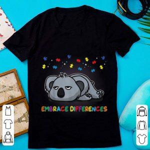 Top Embrace Differences Sassy Koala Autism Awareness shirt