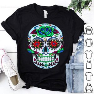 Top Flower Sugar Skull Halloween Hoodies Day Of The Dead shirt