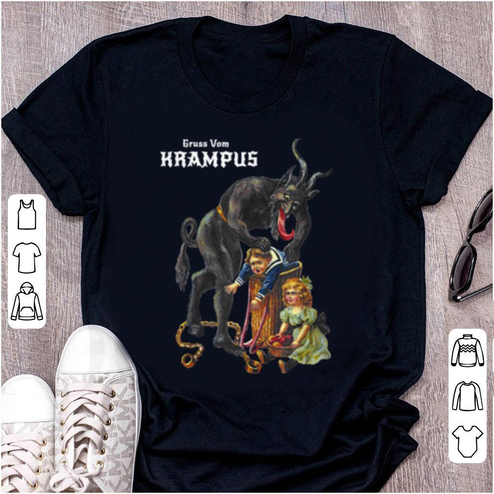 Top Greetings From Gruss Vom Krampus Demon Christmas shirt 1 - Top Greetings From Gruss Vom Krampus Demon Christmas shirt