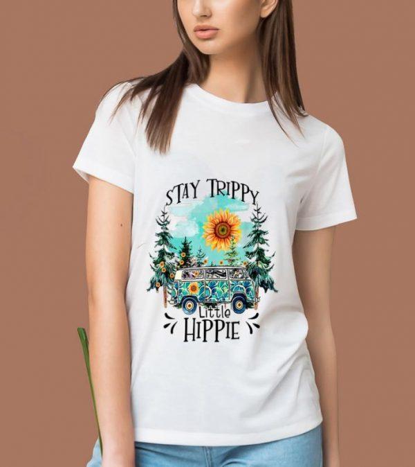 Top Stay Trippy Little Hippie Forest Sunflower shirt