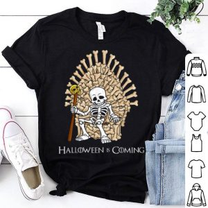Awesome Skeleton Bones Throne Funny Halloween shirt