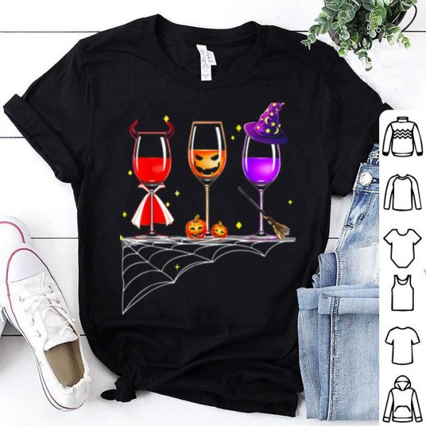 Awesome Wine Glass Of Witchcraft Halloween Funny shirt