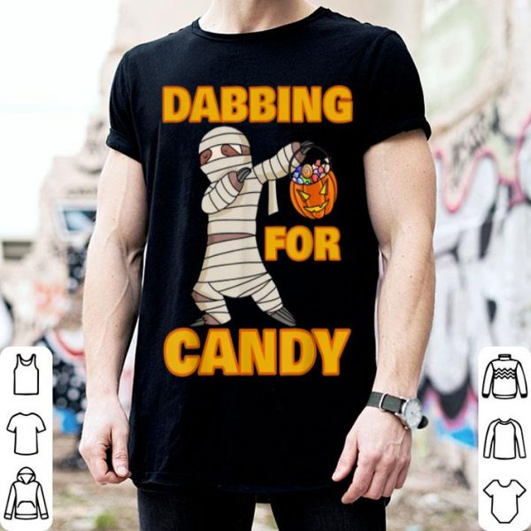 Beautiful Happy Daboween Sloth Halloween Dabbing Mummy Trick Dab shirt