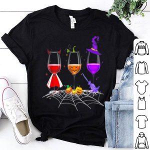 Beautiful Three Glasses Of Wines Halloween Wine shirt