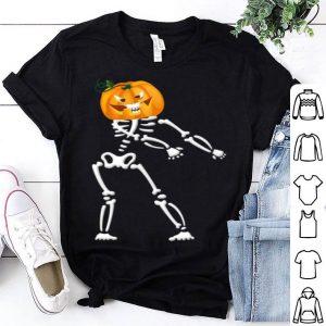 Cool Skeleton Pumpkin Floss Dancing Halloween Funny shirt
