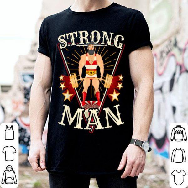 Funny Deadlift - Vintage Circus Strongman Costume shirt