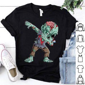 Hot Dabbing Zombie Halloween Boys Kids Dab Funny Zombies shirt