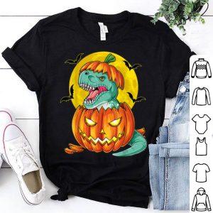 Hot Dinosaur Pumpkin Funny Halloween Gift Men Pumpkasaurus T rex shirt