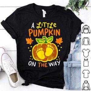 Hot Halloween Pregnancy Announcement Pumpkin Baby Cute Tee shirt