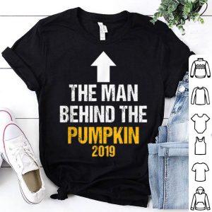 Man Behind The Pumpkin Halloween Pregnancy Announcement Dad shirt