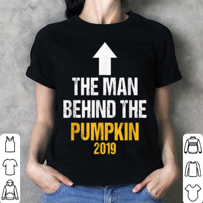 Halloween Pregnancy Announcement Shirt.Man Behind The Pumpkin Halloween Pregnancy Announcement Dad Shirt Hoodie Sweater Longsleeve T Shirt