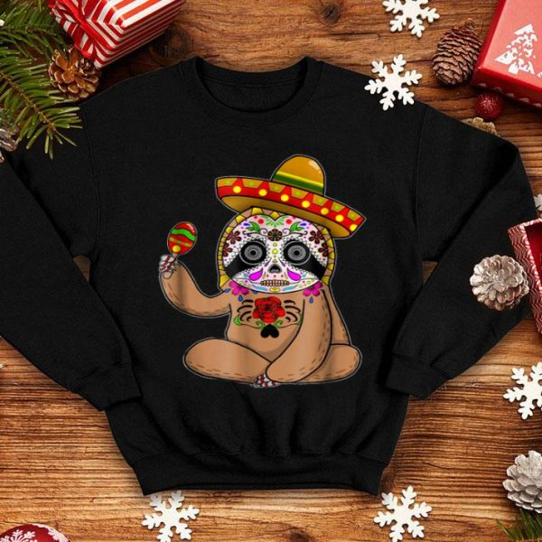Official Cinco De Mayo Sloth Halloween Mexican Day of Dead shirt