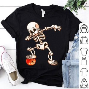 Official Dabbing Skeleton Bowling Halloween Womens Mens Gifts shirt