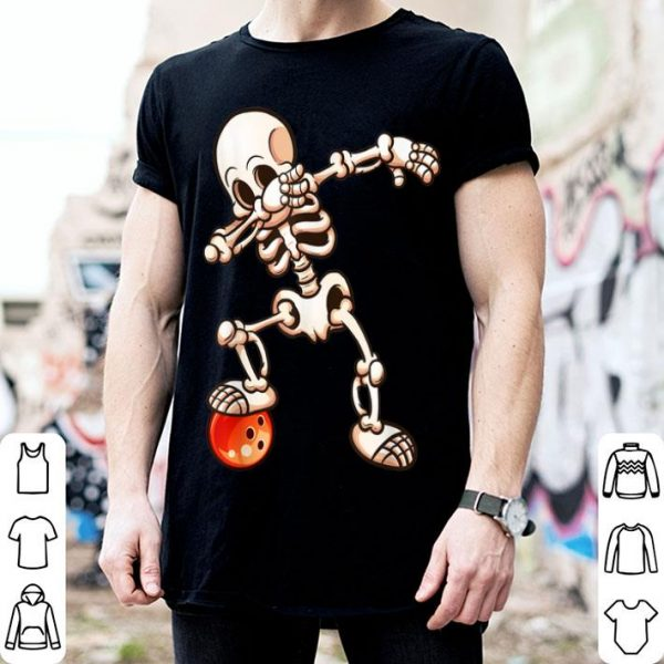 Official Dabbing Skeleton Bowling Halloween Womens Mens Gifts shirt