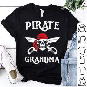 Official Pirate Grandma Funny Halloween Skull Adult Gift shirt
