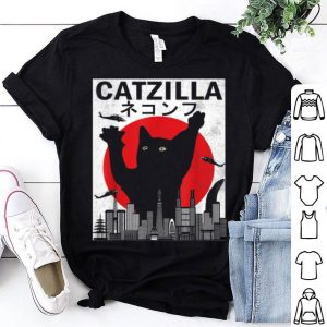 Official Vintage Catzilla Japanese Sunset Style Cat Kitten Lover shirt