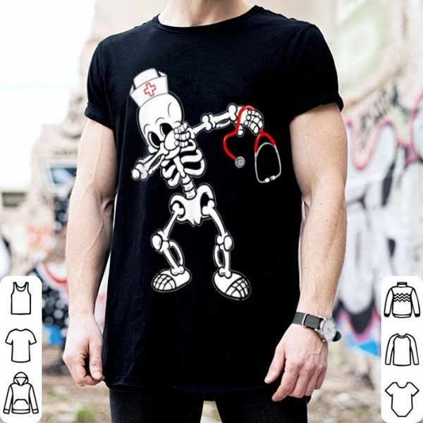 Original Dabbing Skeleton Halloween Gifts Nurse Gifts shirt