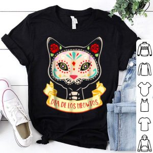 Original Dia De Los Muertos Cat Sugar Skull Halloween Costume shirt
